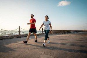Мужские кроссовки для активной ходьбы PW 540 Flex-H+ красно-синие NEWFEEL