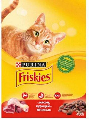 Friskies сухой корм для кошек Мясо+Курица+Печень 400гр АКЦИЯ!