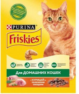 Friskies сухой корм для кошек Курица+Полезные овощи 300гр АКЦИЯ!