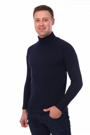 Водолазка мужская темно-синяя