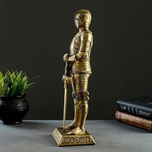 """Фигура """"Рыцарь"""" бронза 11.5х13.5х37см"""