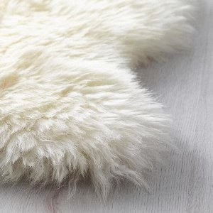 Овечья шкура ЛУДДЕ, неокрашенная, цвет белый