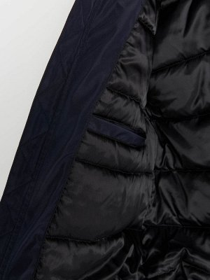 Байкерская куртка с воротником-стойкой