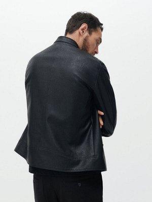 Куртка в байкерском стиле из экокожи