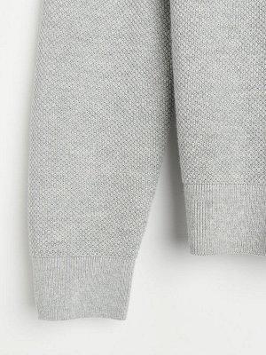 Меланжевый джемпер basic