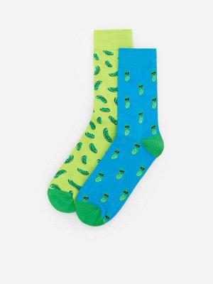 2 пары носков с принтом