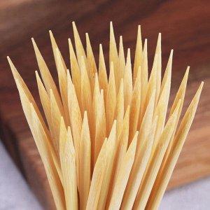 РАСПРОДАЖА Шпажки из натурального бамбука 25 см 100 шт