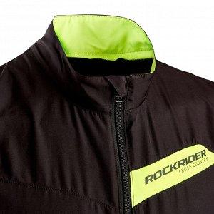 Утепленный жилет для кросс-кантри RACE черно-желтый Slim FIT ROCKRIDER