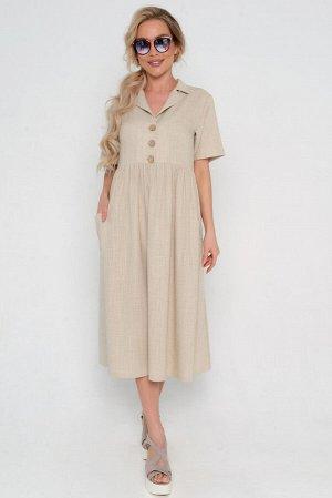 Платье Длина артикула измеряется по спинке от основания шеи до низа изделия.  Длина для размера 42, 44, 46, 48, 50, 52: 115 см. Основная ткань: костюмно-плательного ассортимента. Льняное переплетение,