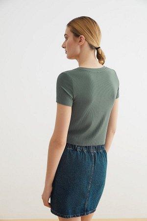 Блузка жен. Jackyly темно-зеленый