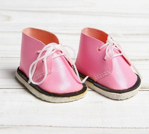 Ботинки для куклы «Завязки», длина подошвы: 6см, 1 пара, цвет нежно-розовый