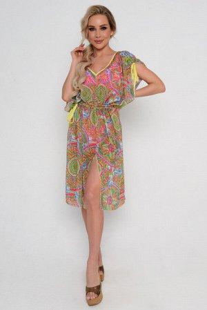 Платье Длина артикула измеряется по спинке от основания шеи до низа изделия.  Длина для размера 42, 44: 110 см. Длина для размера 46, 48: 111 см. Длина для размера 50, 52: 112 см. Основная ткань: блуз