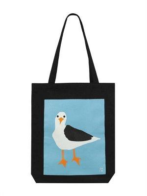 Сумка 221 Описание Удобная экологичная сумка шоппер с изображением чайки.  Характеристики: Состав: 100% хлопок Размеры: 40х35 см Производство: Россия