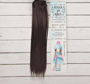Волосы - тресс для кукол «Прямые» длина волос: 25см, ширина: 100см, цвет № 2