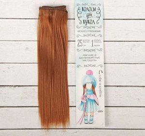 Волосы - тресс для кукол «Прямые» длина волос: 25см, ширина: 100см, цвет № 30