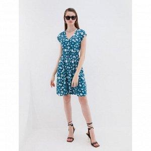 Платье женское синий цветы крупные