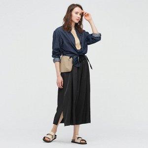 Женская юбка с подкладом, черный