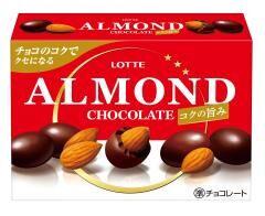 Миндаль в шоколаде насыщенный вкус, Lotte, 46гр. СРОК ГОДНОСТИ ДО 30.07.2021