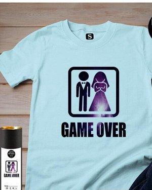 Футболка Game Over, цвет голубой