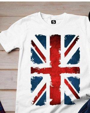 Футболка с Британским Флагом, цвет белый