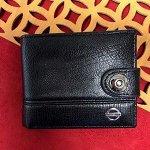 Мужской кошелек Neo двойного сложения чёрного цвета в коробочке.