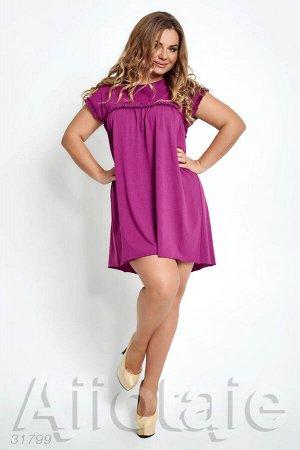 Фиолетовая туника с коротким рукавом