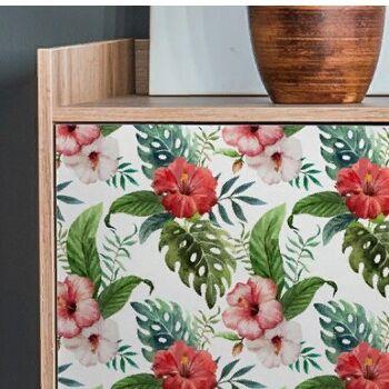 Пленка самоклеящаяся для мебели и декора — Тропики