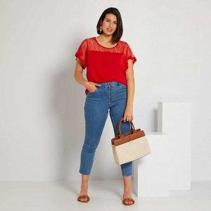 Облегающие джинсы - голубой
