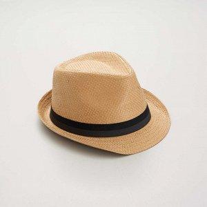 Шляпа борсалино - бежевый