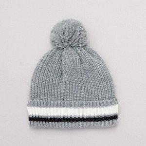 Трикотажная шапочка - серый