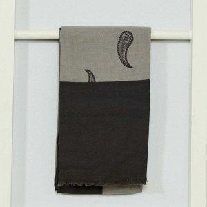 Платок с рисунком - серый