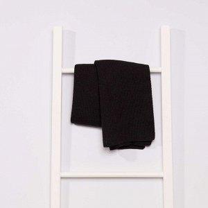 Трикотажный шарф - черный