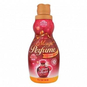 """Кондиционер-ополаскиватель для белья и одежды """"Aroma Viu Magic Perfume Softner Shiny Flora"""" с богатым ароматом персика и розы 1 л / 12"""