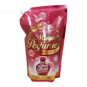 """Кондиционер-ополаскиватель для белья и одежды """"Aroma Viu Magic Perfume Softner Shiny Flora"""" с богатым ароматом персика и розы 1,6 л / 10"""