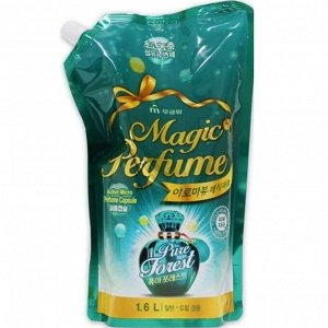"""Кондиционер-ополаскиватель для белья и одежды """"Aroma Viu Magic Perfume Softner Pure Forest"""" с кристальным ароматом летнего леса 1,6 л / 10"""