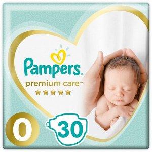 Подгузники Premium Care Newborn (до 2.5кг) Средняя Упаковка 30