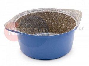 Кастрюля 5 л. Ecoramic Titan 24 см (синяя) с каменным антипригарным покрытием с крышкой