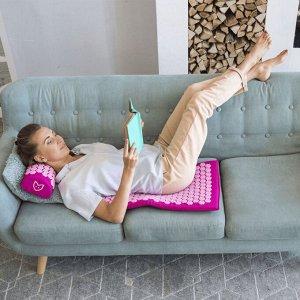 Акупунктурный массажный коврик с валиком