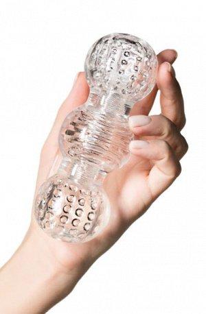 Мастурбатор нереалистичный lingam  прозрачный, 15,5 см
