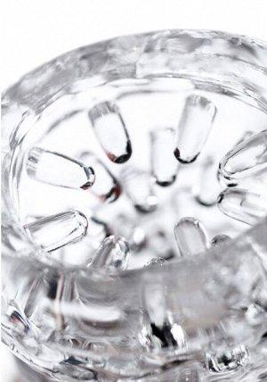 Мастурбатор нереалистичный lingam прозрачный, 14 см