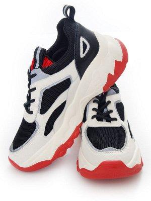 Кроссовки Страна производитель: Китай Размер женской обуви x: 36 Вид обуви: Кроссовки Пол: Женский Застежка: Шнуровка Цвет: Белый Материал верха: Натуральная кожа Материал подошвы: Резина Материал под