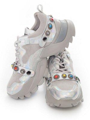 Кроссовки Страна производитель: Китай Размер женской обуви x: 35 Вид обуви: Кроссовки Пол: Женский Застежка: Шнуровка Цвет: Серый Материал верха: Натуральная замша Материал подошвы: Резина Материал по