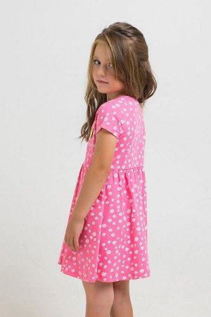 Платье(Весна-Лето)+girls (клубничное суфле, белые камушки к1264)