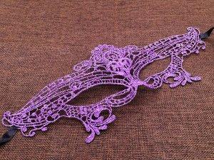 Маска, кружево, цвет фиолетовый