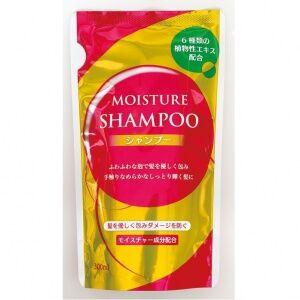 001087 NAGARA MOISTURE Восстанавливающий увлажняющий шампунь д/сухих и поврежденных волос с экстрактом 6 трав и коллагеном с нежным фруктово-цветочным ароматом 300 мл, мяг/у