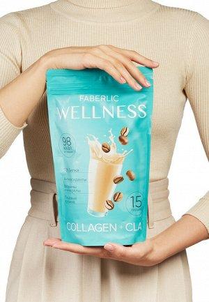 Протеиновый коктейль Wellness с коллагеном и CLA. Вкус: кофе капучино