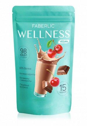 Протеиновый коктейль Wellness VEGAN. Вкус: вишня-шоколад