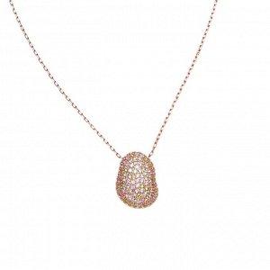Материал: латунь, кубический цирконий. Покрытие из натурального розового золота. Не содержит никель. Длина колье: 43 + 7,5 см дополнительно.* Колье «Краски рассвета»
