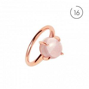 Материал: латунь, натуральный розовый кварц. Покрытие из натурального розового золота. Не содержит никель. 16 размер.* Кольцо «Деликатный кварц» 16