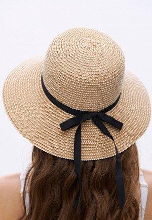 Шляпа соломенная, цвет тёмно-бежевый